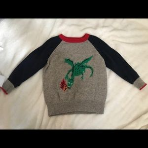 Fire breathing dragon sweater